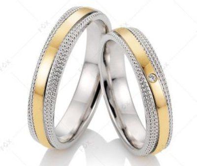 Snubní prsteny řady FOX Bicolor s brilianty