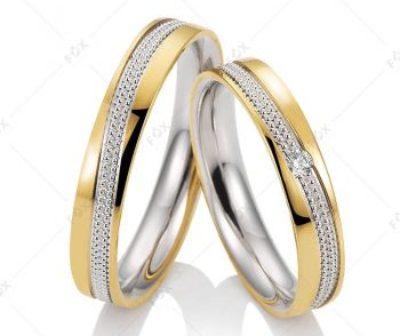Snubní prsteny řady Elnora z kolekce FOX Bicolor