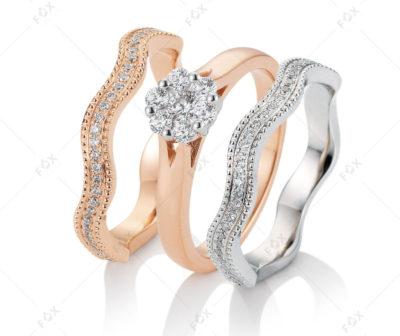 Snubní prsteny řady Lalia kolekce Paris s brilianty