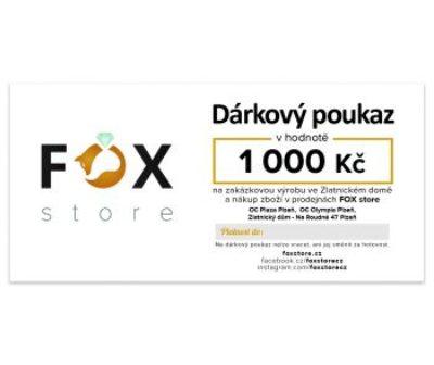 Dárkový poukaz FOX zlatnického domu Roudná v hodnotě 1000 Kč