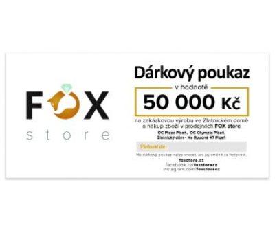 Dárkový poukaz FOX zlatnického domu Roudná v hodnotě 50000 Kč