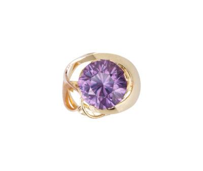 Zlatý masivní prsten s alexandritem