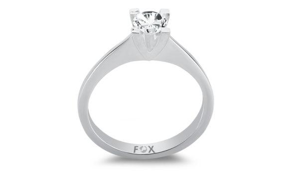 Zlatý zásnubní prsten značky FOX s centrálním diamantem