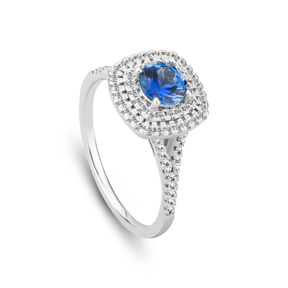 Safírový prsten s brilianty značky FOX